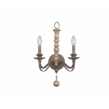 Kalco 506321DS - Colony 2 Light Wall Sconce