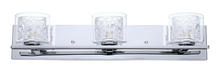 Eglo US 200265A - 3x60W Vanity Light w/ Chrome Finish & Clear Glass, Spiral Chrome Cage  & Clear Crystals