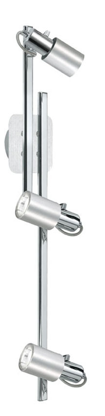 Eglo US 20144AS - 3X9W Track Light w/ Chrome & Aluminum Finish
