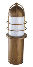Eglo US 20643A - 1x60W Outdoor Post Light w/ Copper Finish & Opal Glass