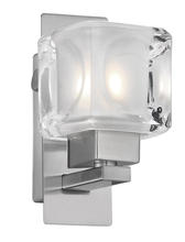 Eglo US 86568A - 1x40W Wall Light w/ Matte Nickel Finish & Frosted & Clear Glass
