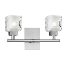Eglo US 86569A - 2x40W Wall Light w/ Matte Nickel Finish & Frosted & Clear Glass