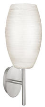 Eglo US 88956A - 1x60W Wall Light w/ Matte Nickel Finish & White Wiped Glass