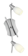 Eglo US 89975A - 2x60W Track Light w/ Matte Nickel Finish & Frosted Glass