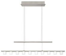 Eglo US 90934A - 10X2.4W LED Linear Adjustable Pendant w/ Matte Nickel Finish & White Wiped Glass