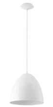 Eglo US 92717A - 1x100 Pendant w/ Glossy White Finish