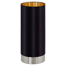 Eglo US 95117A - 1x60W Cylinder Table Lamp w/ Black & Gold Shade