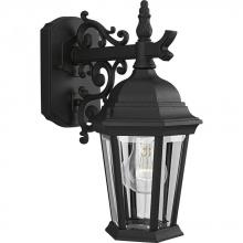 Progress P5682-31 - One Light Textured Black Clear Beveled Glass Wall Lantern