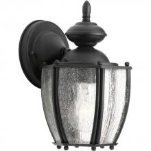 Progress P5762-31 - One Light Black  Clear Seeded Glass Wall Lantern