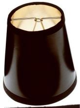Satco Products Inc. 90/1274 - Clip On Shade; Black Round with Gold Interior