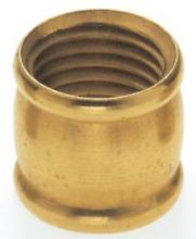 "Satco Products Inc. 90/241 - Brass Couplings 1/2"" Long - 1/4 IP Burnished & Lacquered"