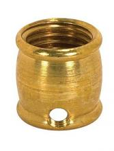 "Satco Products Inc. 90/634 - Brass 1/2"" Long - 1/4 F x 1/8 Slip 8/32 Hole Burnished & Lacquered"